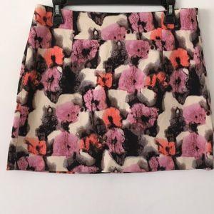 J. Crew watercolor floral skirt